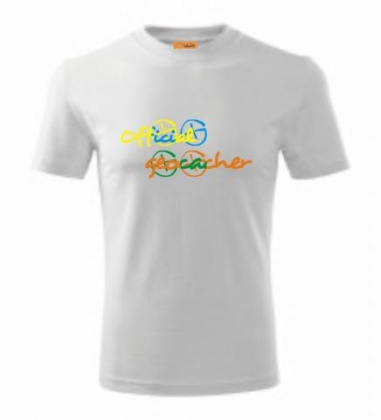 3XL, 4XL Official Geocacher - bílá